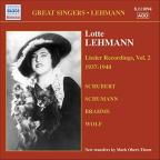 Lehmann Lieder Recordings: 2