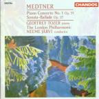 Medtner: Piano Concerto no 1, etc / Tozer, Jarvi, London PO