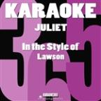 Juliet (In The Style Of Lawson) [karaoke Version] - Single