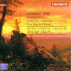 Ives: Symphony no 1;  Barber: Three Essays / Jarvi, Detroit