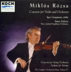 Miklós Rósza: Concerto For Violin And Orchestra