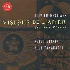 Messiaen: Visions de l'amen, etc / Serkin, Takahashi