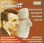 Richard Rodney Bennett: Piano Concerto; Commedia IV; Five Studies; Capriccio