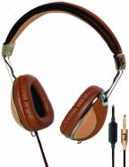 U. Lethal Aviator Headphones Brown & BL>