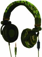 U. Lethal DJ Large Headphones Green Camo