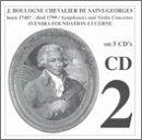 J. Boulogne Chevalier de Saint-Georges: Symphonies and Violin Concertos - CD 2