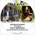All One CD Single Featuring Paul Kossoff