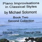 Michael Solomont: Piano Improvisations in Classical Styles, Book 2 (Second Collection)