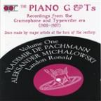 Piano G & T's, Vol. 1: Recordings from the Grammophone Typewriter Era