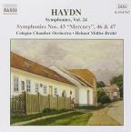 Haydn: Symphonies Nos. 43, 46 and 47