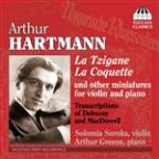 Arthur Hartmann: Miniatures for violin and Piano; Transcriptions