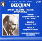 Beecham conducts Haydn, Brahms, Franck: Symphonies / London