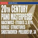 20th Century Piano Masterpieces