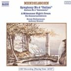 Mendelssohn: Symphony No. 4 / A Midsummer Night's Dream