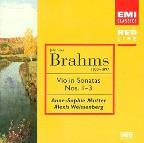 Brahms: Violin Sonatas no 1-3 / Mutter, Weissenberg