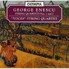 Enescu: String Quartets nos 1 & 2 / Voces String Qt