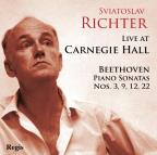 Live at Carnegie Hall: Beethoven Piano Sonatas Nos. 3, 9, 12 & 22