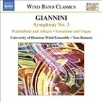 Giannini: Symphony No. 3; Praeludium and Allegro; Variations and Fugue