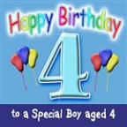 Happy Birthday (Boy Age 4)