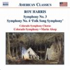 Roy Harris: Symphony No. 3; Symphony No. 4 'Folk Song Symphony'