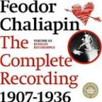 Chaliapin: the Complete Recordings 1907-1936 Volume 3. Russian Recordings