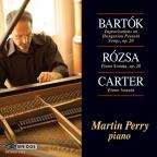 Bartok: Improvisations on Hungarian Peasant Songs; Rosza: Sonate fur Klavier; Carter: Piano Sonata
