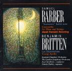 Barber: Souvenirs; Canzonetta; Britten: Les Illuminations; Young Apollo