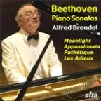 "Beethoven: Piano Sonatas ""Moonlight,"" ""Pathetique,"" ""Appassionata,"" ""Les Adieux"""