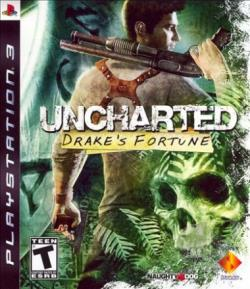 Uncharted: Drake's Fortune PS3 Cover Art