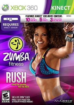 Zumba Fitness Rush XB360 Cover Art