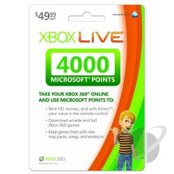 XBox Live Points - 4000 Live Points XB360 Cover Art