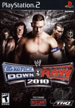 WWE SmackDown vs. Raw 2010 Featuring ECW PS2 Cover Art