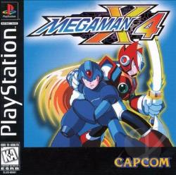 Mega Man X4 PS Cover Art