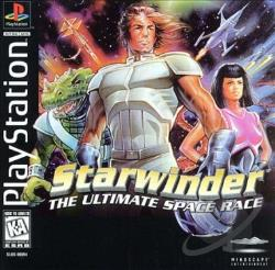 Starwinder: The Ultimate Space Race PS Cover Art