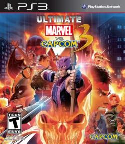 Ultimate Marvel vs. Capcom 3 PS3 Cover Art