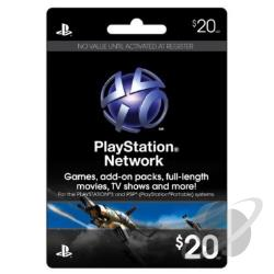 Z Playstation Network $20 Card PS3 Cover Art
