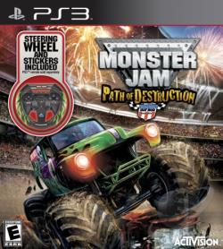 Monster Jam: Path of Destruction PS3 Cover Art