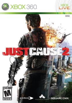 Just Cause 2 XB360 Cover Art