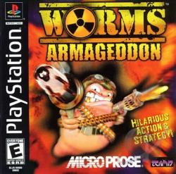 Worms Armageddon PS Cover Art