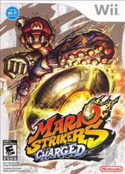 Mario Strikers Charged WII Cover Art