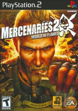 Mercenaries 2: World in Flames PS2 Cover Art