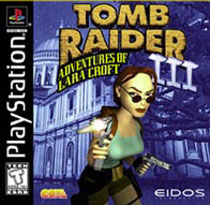 Tomb Raider 3 PS Cover Art