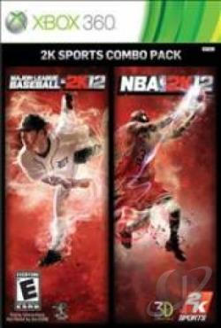 2K Sports Combo Pack: Major League Baseball 2K12/NBA 2K12 XB360 Cover Art