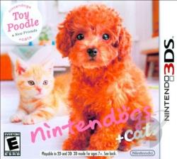 Nintendogs + Cats: Toy Poodle & New Friends 3DS Cover Art