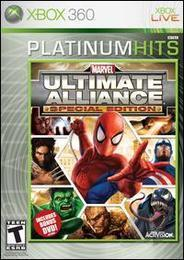 Marvel: Ultimate Alliance XB360 Cover Art