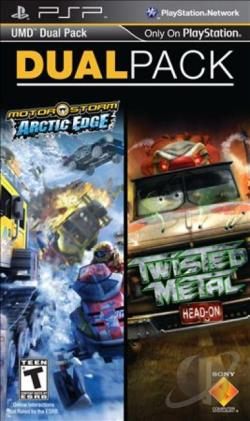 UMD Dual Pack: MotorStorm: Arctic Edge + Twisted Metal: Head-On PSP Cover Art