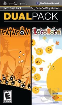 UMD Dual Pack: Patapon + LocoRoco PSP Cover Art