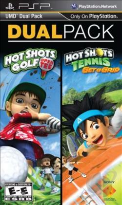 UMD Dual Pack: Hot Shots Golf: Open Tee + Hot Shots Tennis: Get a Grip PSP Cover Art