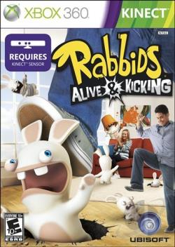 Rabbids Alive & Kicking XB360 Cover Art