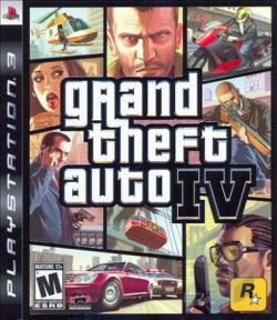 Grand Theft Auto IV PS3 Cover Art